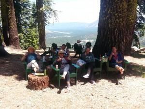 The new green chair circle up at Echo Lake.