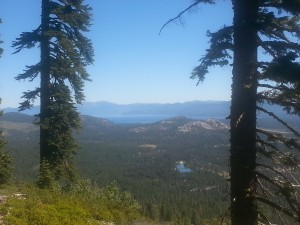 view from echo lake camp